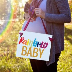 Rainbow Baby Sign | Pregnancy Announcement | me and my sister are rainbow babys