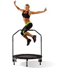 Mini Trampoline 40 Inch Handrail Cardio Fitness Workout Exercise Home Gym Yoga Fitness Studio Training, Cardio Training, Exercise Cardio, Cardio Fitness, Training Tips, Yoga Fitness, High Intensity Cardio Workouts, Fun Workouts, Home Gym Equipment