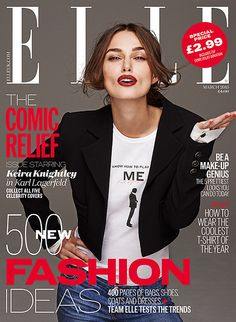 Keira Knightley for Elle UK March 2015