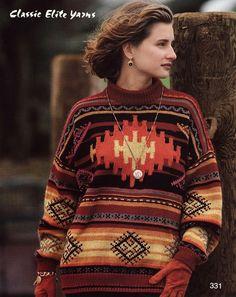 Classic Elite Yarns--Norah Gaughan--Carpet Bag Pullover