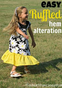 Modest Dresses: Lengthen a Dress (or Skirt) by Adding a Ruffle