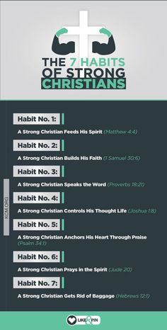 bible When you establish the 7 habits of strong Christians in your life, it will keep you strong, protect you from the enemy, and catapult you to VICTORY. Bible Study Notebook, Bible Study Tips, Scripture Study, Bible Lessons, Revelation Bible Study, Bible Study Plans, Bible Study For Kids, Prayer Scriptures, Bible Teachings