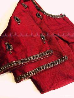 Pattu Saree Blouse Designs, Blouse Designs Silk, Designer Blouse Patterns, Bridal Blouse Designs, Simple Blouse Designs, Stylish Blouse Design, Blouse Desings, Maggam Work Designs, Blouse Models