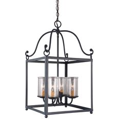 fixture Antique Forged Iron 4-light Pendant - Overstock™ Shopping - Great Deals on Murray Feiss Chandeliers & Pendants  $279
