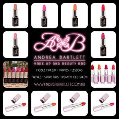 Harlotte Cosmetics - Matt & Brights Lipstick Collection - Available at Andrea Bartlett - Make-up & Beauty Bar