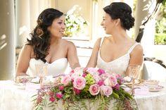 classic, feminine, glamorous & luxurious lesbian wedding styled shoot