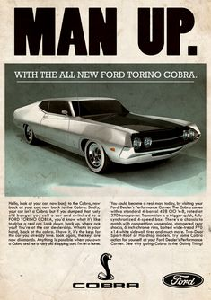 .....and disappear through the nearest hedge at the first corner ! (Ford Torino Cobra)
