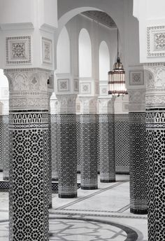 Moroccan architecture // Exquisite detail // La Mamounia hotel in Marrakech.