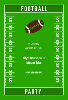 football party invitation template free printable free printables