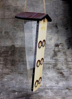 Mangeoire à oiseaux en bois suspendu mangeoire à par Artbirdfeeder