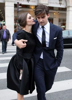 mode-chanel: Olivia Palermo with Johannes Huebl Mode Chanel, Olivia Palermo Style, Stylish Couple, Stylish Men, Hollywood, Glamour, Fashion Couple, Gentleman Style, Well Dressed