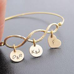 3 Generation Jewelry for Grandma, Personalized Grandma Gift, Christmas Gift for Grandma, Grandparent Gift Grandma, Three Generation Bracelet