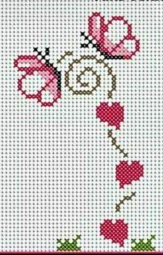 Ideas Embroidery Designs Cross Stitch Punto Croce For 2019 Cross Stitch Letters, Cross Stitch Boards, Mini Cross Stitch, Cross Stitch Heart, Cross Stitching, Cross Stitch Embroidery, Embroidery Patterns, Hand Embroidery, Stitch Patterns