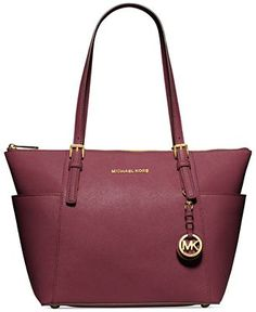 Buy the MICHAEL Michael Kors Jet Set Saffiano E/W Top Zip Tote at eBags - Add a pop of color to any outfit in your wardrobe with this versatile leather tote bag from MICHAEL Basket Michael Kors, Michael Kors Jet Set, Outlet Michael Kors, Cheap Michael Kors, Michael Kors Selma, Michael Kors Tote, Handbags Michael Kors, Tote Handbags, Purses And Handbags