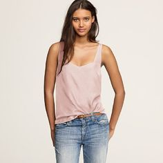 j.crew. silk layering tank in carnival blossom. and she is so gorgeous.