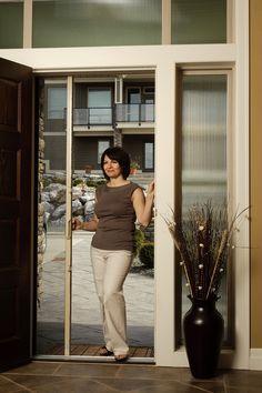 Charmant Invisible U0026 Hidden Retractable Door Insect U0026 Bug Screens | Pinterest |  Retractable Screen Door, Front Doors And Screens
