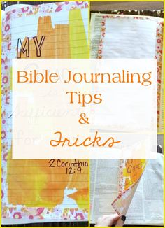 I'm sharing tips, tricks and pictures on how you can enjoy the spiritual discipline of Bible journaling without a journaling Bible. Faith Bible, My Bible, Bible Art, Bible Verses, Scriptures, Romans Bible, Bible Study Tips, Bible Study Journal, Scripture Study