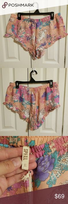 Spell & The Gypsy Collective Wild Horses Shorts XL NWT Spell & The Gypsy Collective Wild Horses Shorts XL in Blush. Tried on once. The price is Firm due to what I paid plus POSH fees. Cross posted. Spell & The Gypsy Collective Shorts