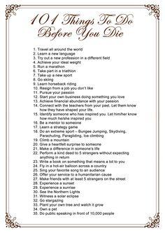 LARGE bucket list