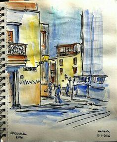 Calle Herrería. Las Palmas de Gran Canaria. #urbansketch