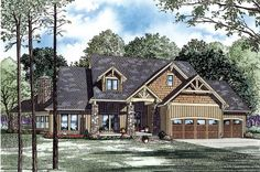 House Plan 82260 | Craftsman Vacation Plan with 3345 Sq. Ft., 4 Bedrooms, 3 Bathrooms, 3 Car Garage at family home plans