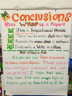 How to write a conclusion to a nonfiction report about an animal. Used in a grade inclusion room. Expository Writing, Informational Writing, Narrative Writing, Writing Workshop, Informative Writing, Paragraph Writing, Expository Conclusions, Opinion Writing, Writing Lessons