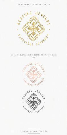 Boho Logo - Bohemian Medallion Logo - Jewelry Designer - Handmade Jewelry Logo - Premade Logo Design