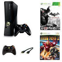 Xbox 360 Super Hero Bundle w/ 4GB Console, Batman: Arkham City, Iron Man 2, Controller & HDMI Cable ShopNBC.com