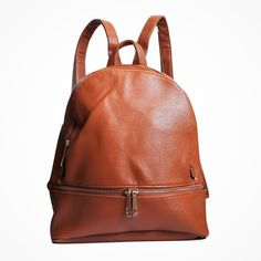 €19,45 URBAN LOOP | Zaino in   ecopelle marrone uomo/donna con zip frontale | Faux Leather Backpack
