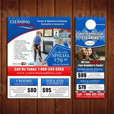 Carpet Cleaning Door Hanger & Flyer Design - Done in 24hrs ...