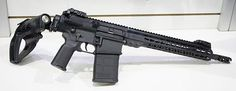 ArmaLite .308 pistol with a 13.5″ barrel, would be perfect if it had an actual collapsible stock