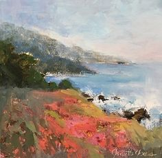 Summer Postcard by Janette Jones Oil ~ 8 x 8 California Art, Landscape Paintings, It Works, Oil, Summer, Summer Time, Landscape, Nailed It, Landscape Drawings
