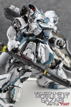 Fuck Yeah! Japanese Robots! // ani-plamo: 1/100 MG Sazabi Ver Ka. Custom Paint ...