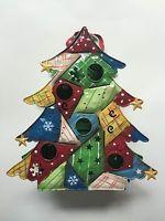 Home Interiors Patchwork Tree Tin Lantern 59138 Including Box