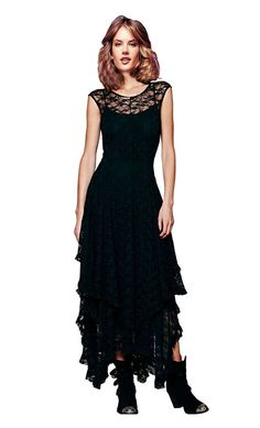 CA Mode Women's Sleeveless Floral Lace Tiered Long Irregular Party Dress ** See this great product. (This is an affiliate link and I receive a commission for the sales)