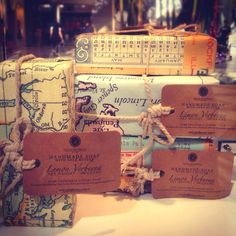 Hand-made soap in vintage-inspired packaging! (: