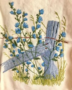Vintage kit stitched back in the 1970's - it is still in good shape! Bucilla, I believe. #crewel #embroidery #needlework #stitchery…