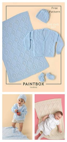 Knit a complete baby layette for the newborn in your life with the Baby Layette Set Free Knitting Pattern. This is an excellent gift idea for any little baby. Knit Baby Booties Pattern Free, Baby Knitting Patterns Free Newborn, Beanie Knitting Patterns Free, Layette Pattern, Baby Patterns, Free Knitting, Clothes Patterns, Crochet Baby Sweaters, Baby Layette