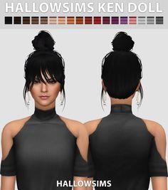 Ken Doll hair conversion at Hallow Sims via Sims 4 Updates