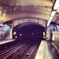 Direction Montparnasse... #paris #metro #solferino #subway #vintage by Lix Bacskay, via Flickr