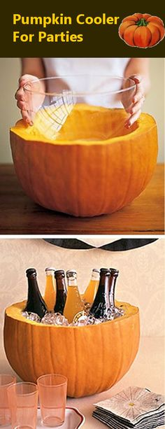 Pumpkin Cooler for Parties--Only because I want to have a holloween party!