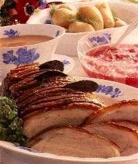 Danish Flaeskesteg Pork Roast with Cracklings and Candied Potatoes  - Og Saa Er Det Jul!