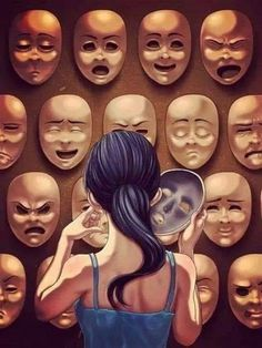 trendy Ideas for drawing faces sad Illustrations, Illustration Art, Deep Art, Social Art, Sad Art, Gcse Art, Live For Yourself, Art Inspo, Fantasy Art