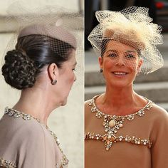 Princess Caroline of Monaco Fascinator Hats, Fascinators, Headpieces, Chanel Vestidos, Vestidos Retro, Spanish Woman, Sweet Caroline, Caroline Of Monaco, Princess Caroline