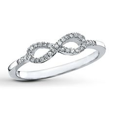 Kay - Diamond Infinity Ring 1/10 ct tw Round-cut Sterling Silver.   My husband need to get me this