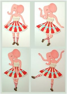 Lovely vintage-y paper doll (very makable).