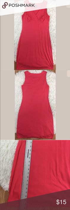 Ann Taylor coral orange jersey knit dress Small Super cute and comfy pre-owned Ann Taylor coral orange jersey knit soft casual sleeveless dress, size small. Perfect for summer! No stains or holes. Please ask all questions before purchasing. Ann Taylor Dresses