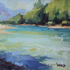 A Series of River Paintings, painting by artist Cathleen Rehfeld