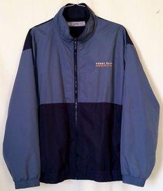 Perry Ellis America Active Blue Dark Blue Men's Jacket sz XXL #PerryEllis #BasicJacket
