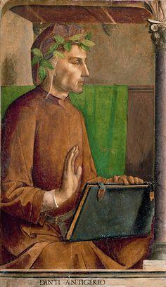 Dante Alighieri Giusto di Gand, Pedro Berruguete 1476 olio su tavola Museo del Louvre, Parigi